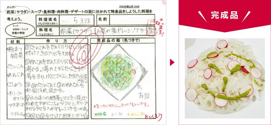 KIDS-シェフレポート 今回調理したメニュー01